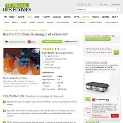 Confiture de mangue et citron vert