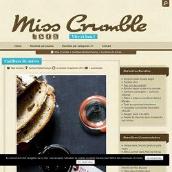 Confiture de mûres - Miss Crumble