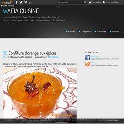Confiture d'orange aux épices - WAFIA CUISINE