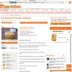 Confiture d'oranges douces : Recette de Confiture d'oranges douces