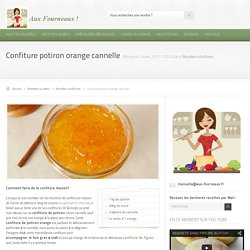 Confiture potiron orange cannelle