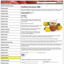 Confiture de prune : recette de la confiture de prune maison