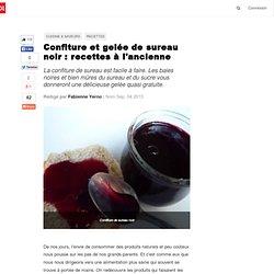 Confiture et gelée de sureau noir : recettes à l'ancienne