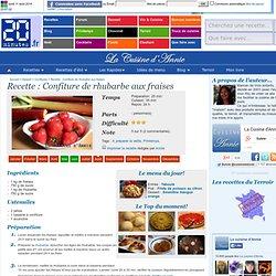 Confiture de rhubarbe aux fraises