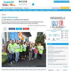 Conflans-Sainte-Honorine. La CGT dénonce la souffrance des salariés