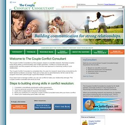 The Couple Conflict Consultant | Welcome to The Couple Conflict Consultant