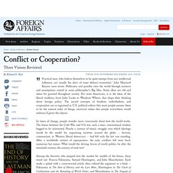 Conflict or Cooperation?