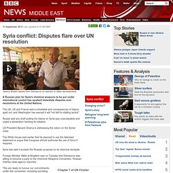 Syria conflict: Disputes flare over UN resolution
