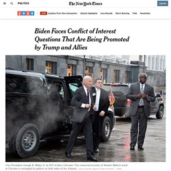 5/1/19: Trump & allies promoting questions about Biden conflict of interest