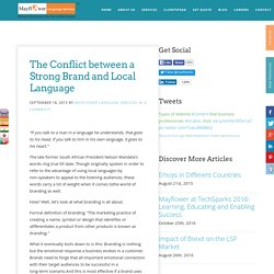 The Conflict between a Strong Brand and Local Language - Mayflower Language Services