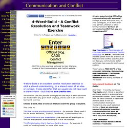 4-word-build, A Conflict Resolution Exercise and Teamwork Exercise