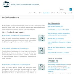 Conflict Trends Reports