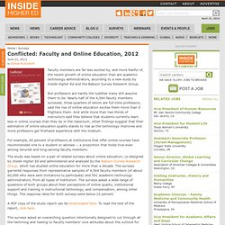 Conflicted: Faculty and Online Education, 2012