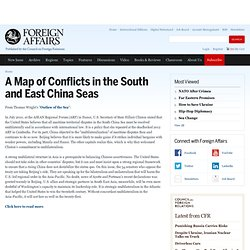 A Map of Conflicts in the South and East China Seas