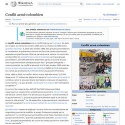 Conflit armé colombien