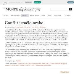 Conflit israélo-arabe - Le Monde diplomatique