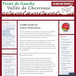 Conflit social à la SAVAC (Chevreuse)
