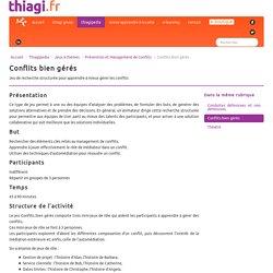 Conflits bien gérés - Thiagi.fr