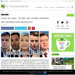 Avant de voter : la liste des conflits d'intérêts des candidats à lire absolument