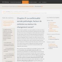 Cours S.E.S - Conflits sociaux, cohésion sociale, changement social
