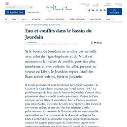 Eau et conflits dans le bassin du Jourdain