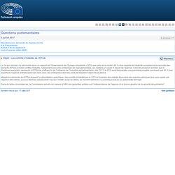 PARLEMENT EUROPEEN - Réponse à question E-004449-17 Les conflits d'intérêts de l'EFSA