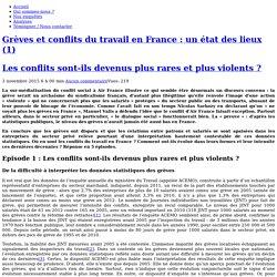 Grèves et conflits du travail en France : un état des lieux (1) Les conflits sont-ils devenus plus rares et plus violents ?