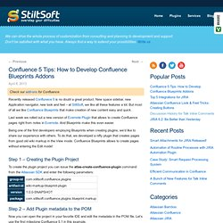 Confluence 5 Tips: How to Develop Confluence Blueprints Addons