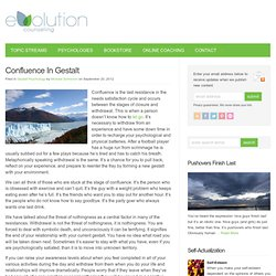Confluence In Gestalt - Evolution Counseling : Evolution Counseling