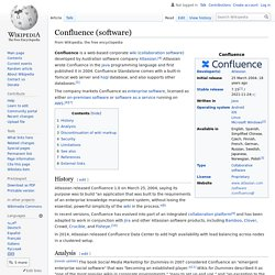Confluence (software)