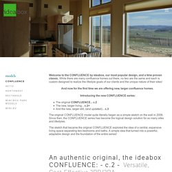 Confluence: Perfect sightlines, high ceilings, smart storage, and easy flow — ideabox
