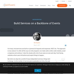 Build Services on a Backbone of Events