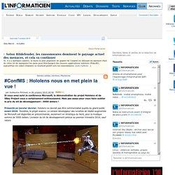 #ConfMS : Hololens nous en met plein la vue !
