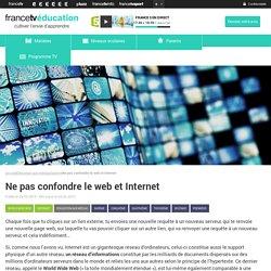 Ne pas confondre le web et Internet