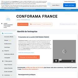 CONFORAMA FRANCE (LOGNES) Chiffre d'affaires, résultat, bilans sur SOCIETE.COM - 414819409
