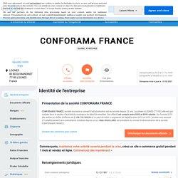 Doc 11: CONFORAMA FRANCE (LOGNES) Chiffre d'affaires, résultat, bilans sur SOCIETE.COM - 414819409