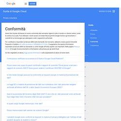 Conformità - Guida di Google Cloud