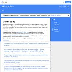 Conformité - Aide Google Cloud