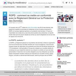 RGPD : comment se mettre en conformité avec le Règlement Général sur la Protection des Données
