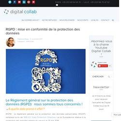 RGPD : mise en conformité de la protection des données - Digital Collab