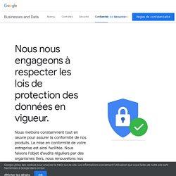 Comment Google respecte les lois de protection des données