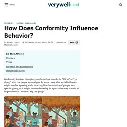 How Does Conformity Influence Behavior?