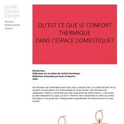 Confort thermique - Lucile Sauzet