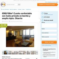 650$/198m² Cuarto confortable con baño privado en bonito y amplio Apto. Obarrio - Ciudad de Panamá - Compartir piso