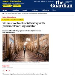 We must confront racist history of UK parliament's art, says curator