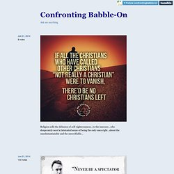 Confronting Babble-On