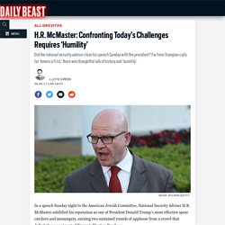 H.R. McMaster: Confronting Today's Challenges Requires 'Humility'