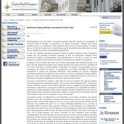 Confronto delle politiche monetarie di Fed e Bce