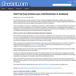 Don't let Fuse Confuse you, Call Electrician in Auckland
