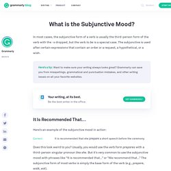 Confused About the Subjunctive Mood?